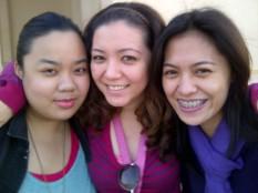 Church with Jemi and Dona. (Jan.'12)
