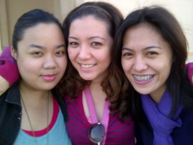 Church with Jemi and Dona. (Jan.'12)