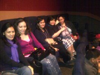 Movie date with the girls.