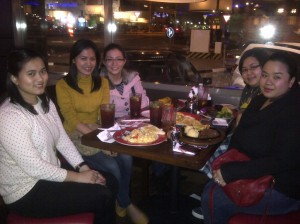 Madel's 26th bday celebration at TGIF. (Jan. '12)
