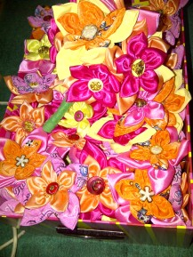 DIY fabric flowers for the wedding. (May'12)
