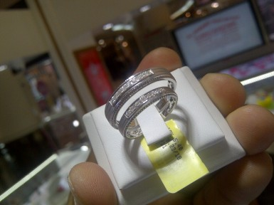 Scouting for wedding rings.