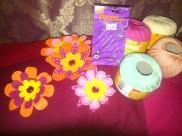 DIY felt fabric flowers for the wedding