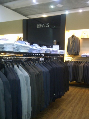 Scouting for Dad's suit for the wedding. (June.'12)