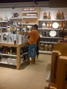 Shopping with Mom and Dad.