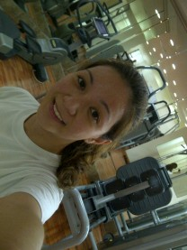 Working out again.