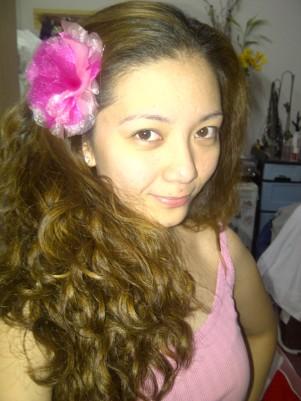 DIY hair fabric flower hair clip.