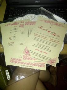 DIY wedding invitations.