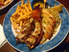 Lobster meal from Red Lobster.
