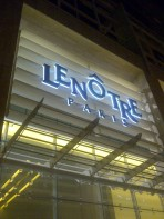 Trying out Lenotre cafe.