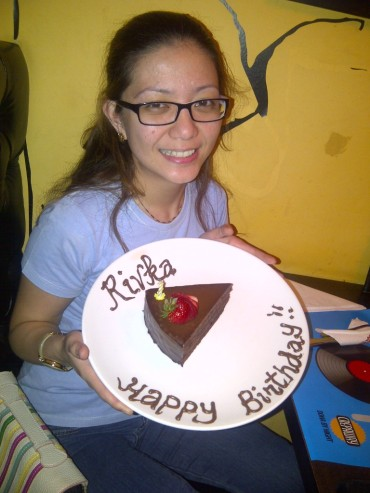 Birthday celebration at Crepaway. (Jul.'12)