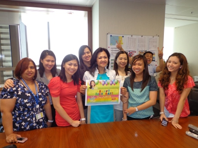 Tita Judith's bday celebration at the office. (Jul.'12)