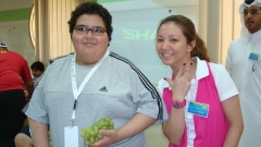 With the cutest kid at the Diabetic camp. (Feb.'12)
