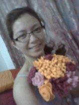 DIY felt fabric flowers.