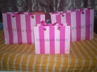 Major shopping at Victorias Secret during sale. Hahaha!