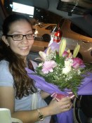 Surprise flowers for my bday from my sweet friends. (Jul.'12)