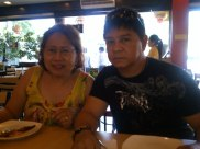 Lunch at King Bee Chinese restaurant with Mom and Dad. (Aug.'12)