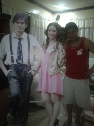 Dad posing with our life size standee. (Sept.'12)