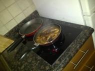 Cooking pork adobo at Dubai. (Mar.'12)