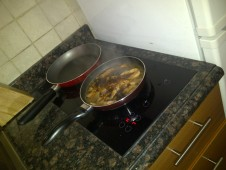 Cooking pork adobo at Dubai. (Mar.'12)