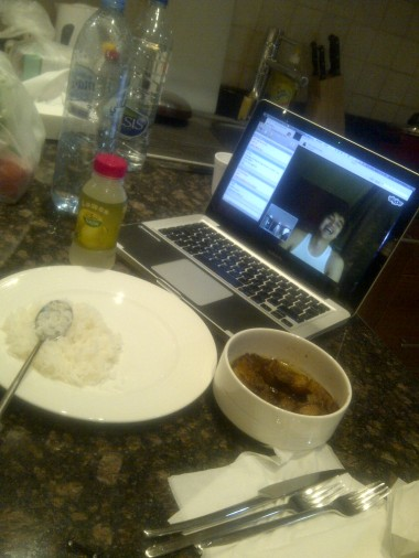 Eating while Skype-ing with Laviel. (Mar.'12)