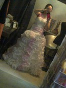 First time to fit my wedding gown. (Aug.'12)