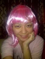 With my pink hair. Hihi. (Oct.'12)