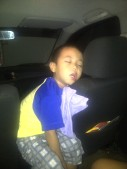 Buboy falling asleep in this position. Haha! (Oct.'12)
