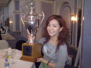 Posing with the SSG Olympic trophy. (Dec.'12)