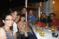 Night out with Behringer people at Cuscaded, Singapore. (Mar.'12)