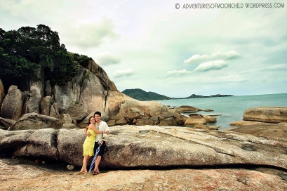 At Grandfather-Grandmother rocks in Koh Samui, Thailand with Lav during our honeymoon adventure. (Sept.'12)