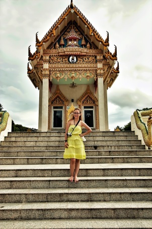Temple hopping at Koh Samui, Thailand with Laviel. (Sept.'12)
