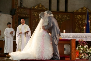 """The day we got married. """"You may now kiss the bride."""" (Sept.'12)"""