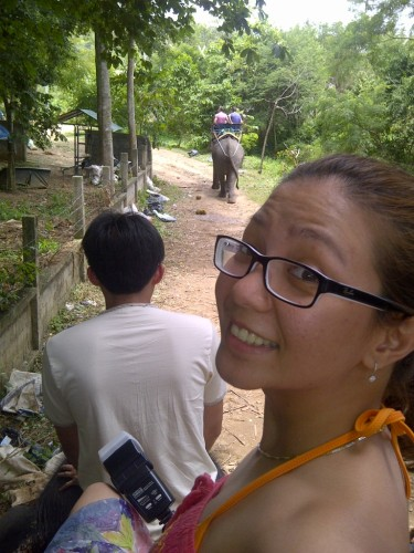 Elephant trekking with Laviel at Koh Samui. (Sept.'12)