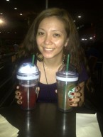 Cold drinks at Starbuck Sta. Lucia with Jemi. (Sept.'12)